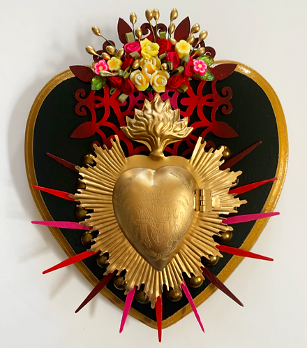 Gold and Red Spiked Sacred Heart