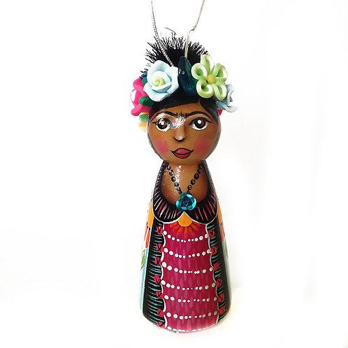 Frida In Blue Striped Coat Ornament