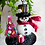 Thumbnail: Skeleton Snowman with Red Christmas Tree Art Ornament