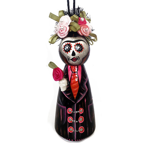 Frida In A Man's Black Suit Ornament