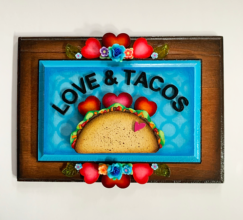 Love and Tacos (in Blue)