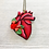 Thumbnail: Anatomical Heart And Red Rose Pendant Necklace