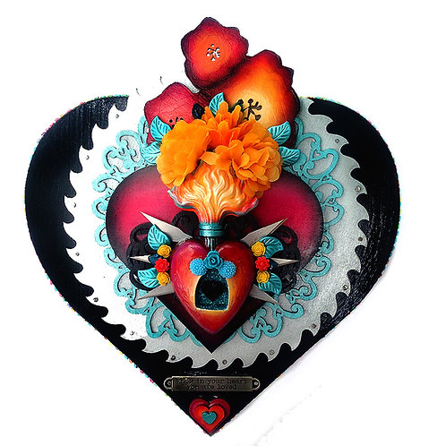 Double Sacred Heart With Sawblade