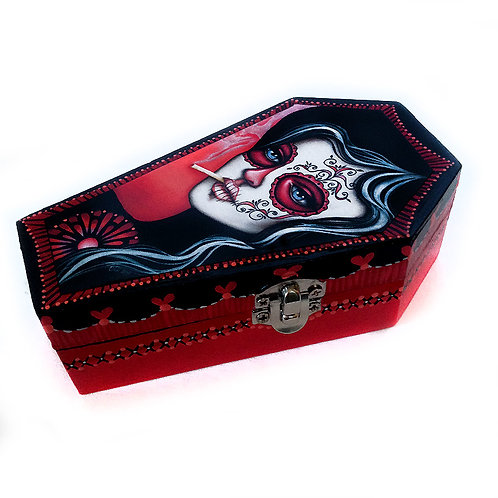 Give Me Your Soul Coffin Shaped Keepsake Box
