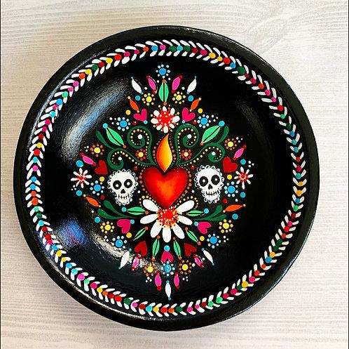 Dia de los Muertos Double Skull Trinket Dish