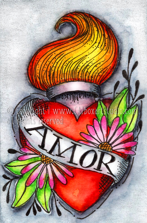 Original Sacred Heart No.6 Illustration