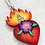 Thumbnail: Sacred Heart with Purple Flower Pendant Necklace