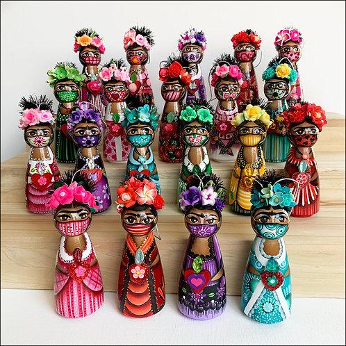 Masked Frida Art Ornament