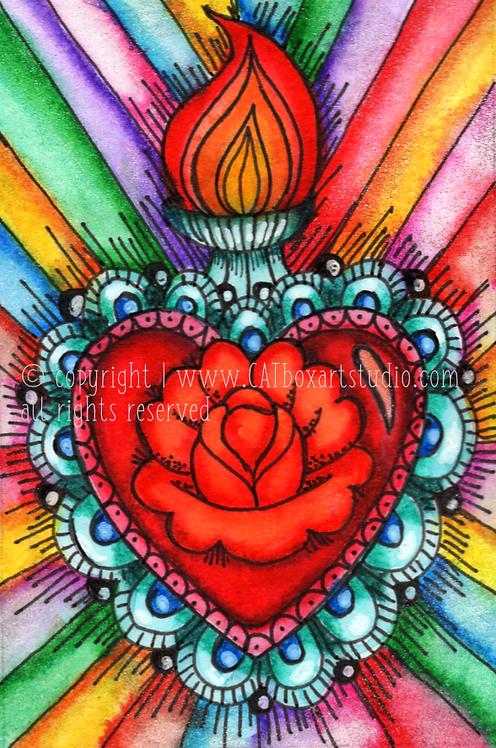 Original Sacred Heart No.8 Illustration