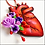 Thumbnail: Anatomical Heart And Purple Flowers Ornament