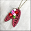 Thumbnail: Pink Rib Cage And Heart Pendant Necklace