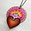Thumbnail: Light Violet Sacred Heart Pendant Necklace