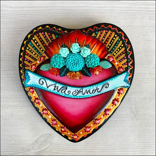 Viva Amor Sacred Heart Wall Art