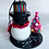 Thumbnail: Skeleton Snowman with Pink ChristmasTree Art Ornament