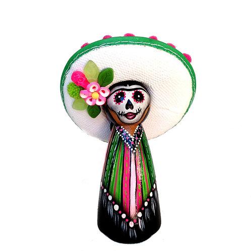 Day of the Dead Green Sombrero Ornament
