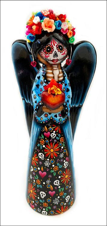 Dia De Los Muertos Love Angel with Sacred Heart