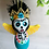 Thumbnail: Blue Frida with Yellow Wings Skeleton Angel Art Ornament