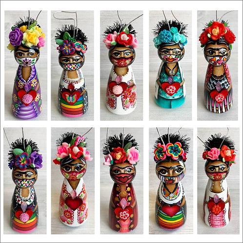 PRE-ORDER Frida Masked Art Ornaments