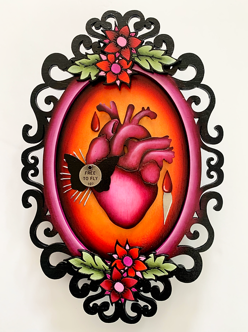 Free To Fly Anatomical Heart