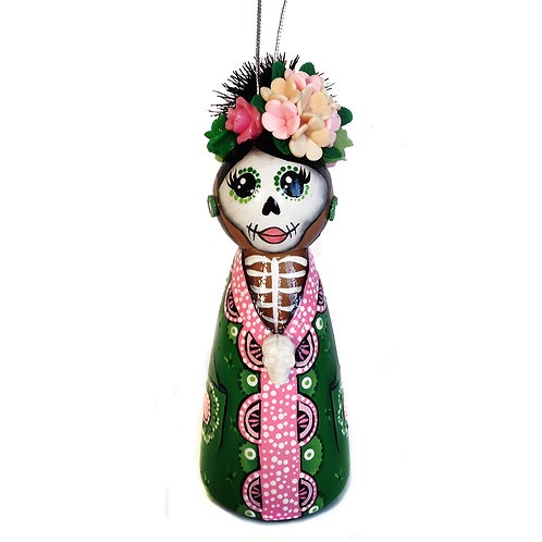 Day of the Dead Green Dress Ornament