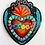 Thumbnail: Teal Sacred Heart with Flowers and Gold Nails