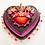 Thumbnail: Small Burgundy Sacred Heart with Xacto Blades