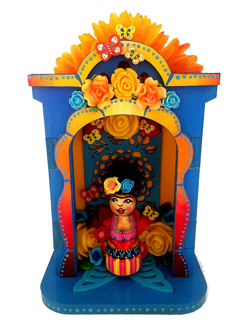 Frida In Decorated Blue Nicho