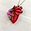 Thumbnail: Anatomical Heart And Light Lavender Pendant Necklace