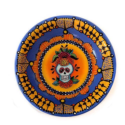 Flowered Sweet Skull Jewelry Dish