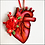 Thumbnail: Anatomical Heart And Red Flowers Ornament