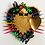 Thumbnail: Gold Sacred Heart and Hummingbirds