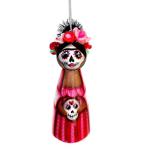Frida Kahlo with Sugar Skull Ornament
