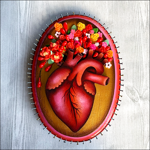 Blooming Anatomical Heart II Wall Art