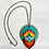 Thumbnail: Teal Sacred Heart Pendant Necklace