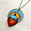 Thumbnail: Light Blue Sacred Heart Pendant Necklace