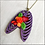 Thumbnail: Purple Rib Cage And Heart Pendant Necklace