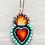 Thumbnail: Teal Sacred Heart Pendant Necklace