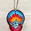 Thumbnail: Sacred Heart with Blue Rose Pendant Necklace