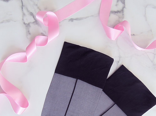Plain Top Seamed Stockings