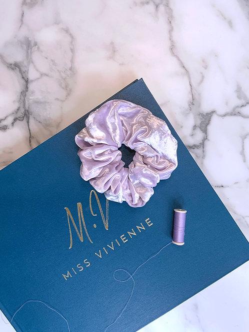 Lilac Velvet Scrunchie