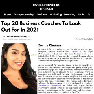 Entrepreneurs Herald:  Momentum Uncensored & Zarine Chamas