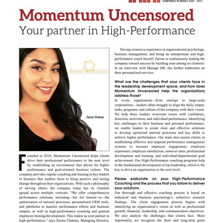 Manage HR Magazine: Momentum Uncensored: Your Partner in High-Performance