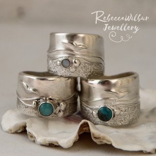 Bespoke Seascape rings £120 - £150