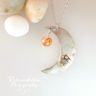 Crescent Moon Cosmos pendant £95