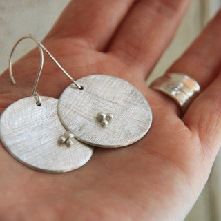 Full Moon earrings made to order £95