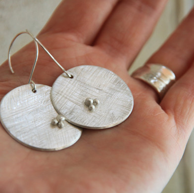 Full Moon earrings made to order £95