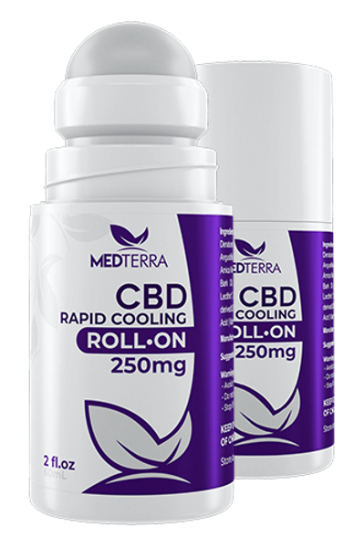 MedTerra CBD Rapid Cooling Cream Rollerball 250 MG
