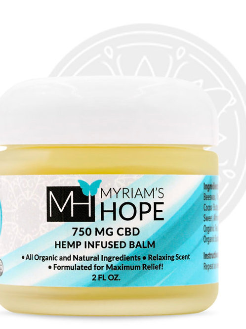 MYRIAM'S HOPE 750 MG CBD BALM 2 oz