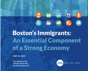 JVS partners with MIT to produce report: Boston's Immigrants: An Essential Component...