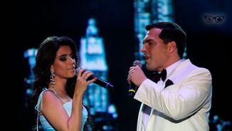 Paula Fernandes e Daniel Boaventura cantam